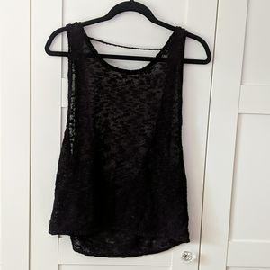 ❄️ 3/$35 Black Knit Open Back Slouchy Ta…